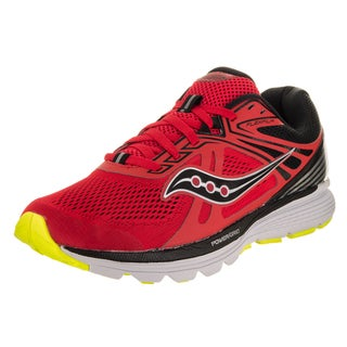 Saucony Men's Swerve Red Synthetic Leather Running Shoe