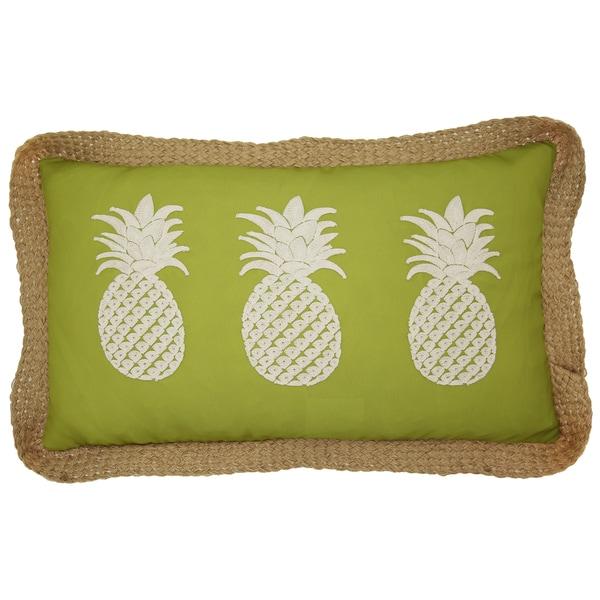 Shop Lush Decor Green 40 X 40 Pineapples Decorative Throw Pillow Extraordinary Lush Decor Throw Pillows
