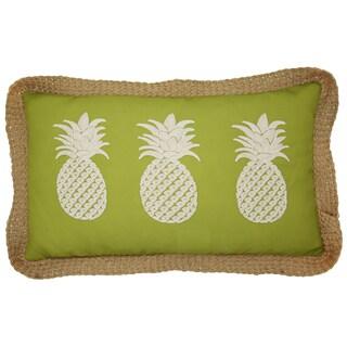 Lush Decor Green 13 x 22 Pineapples Decorative Throw Pillow