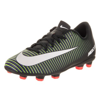Nike Kids Jr Mercurial Vortex III Black Synthetic Leather Soccer Cleats