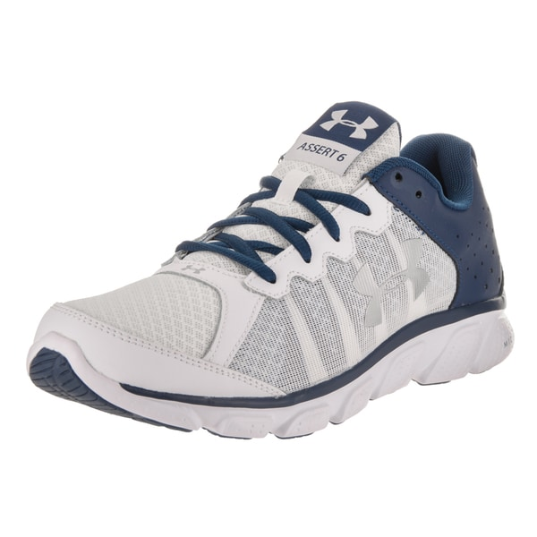 d8bb5f47f067 Shop Under Armour Men s Micro G Assert 6 White Running Shoes - Free ...