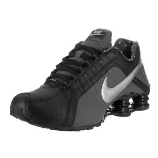 Nike Women's Shox Junior Black Synthetic-leather Running Shoes