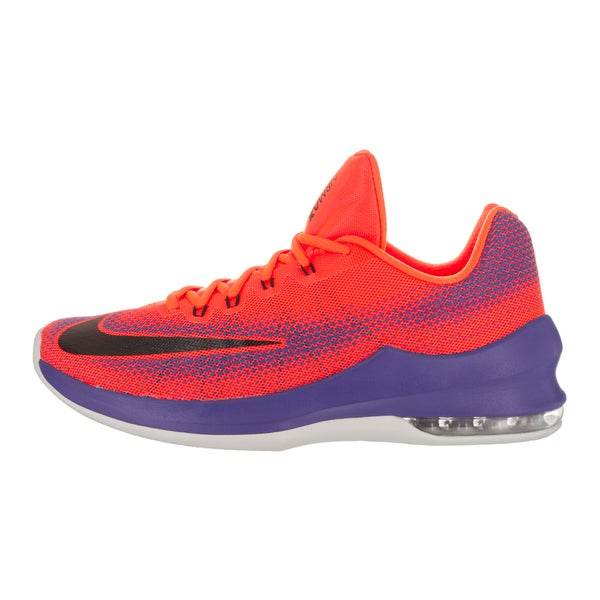 Shop Nike Men's Air Max Infuriate Low Red Basketball Shoes