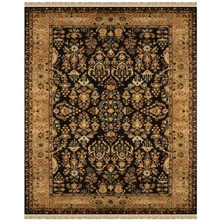 Grand Bazaar Bower Black and Gold Wool Tufted Rug (8'x11')