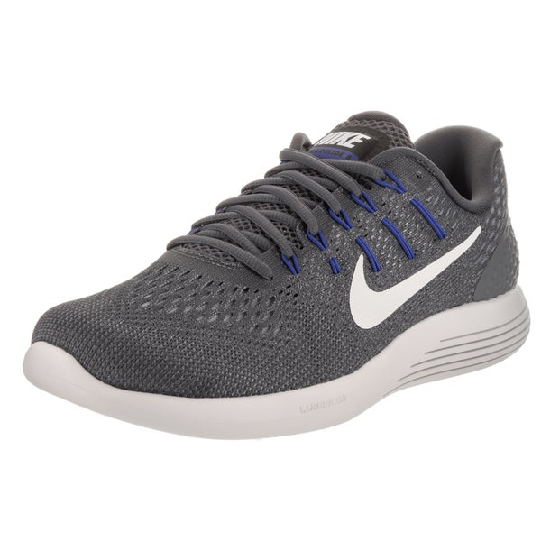 2524de63c28 Shop Nike Men s Lunarglide 8 Dark Grey Flyknit Running Shoes - Free ...