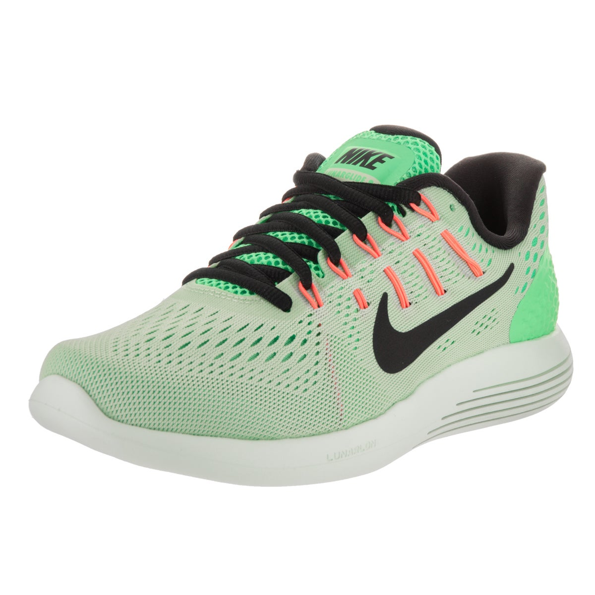 Nike Women's Lunarglide 8 Fresh Mint Green Flyknit Runnin...