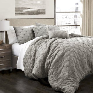 Lush Decor Ravello Pintuck 5 Piece Comforter Set (As Is Item)