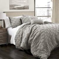 Oliver James Emin Pintuck 5 Piece Comforter Set
