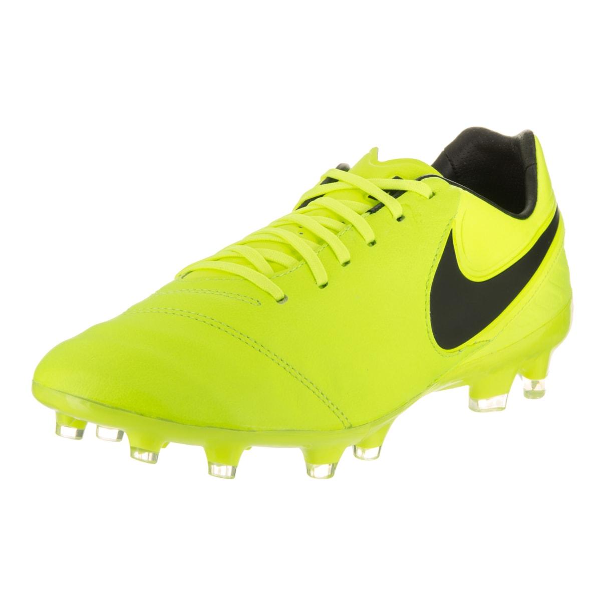 Nike Men's Tiempo Legacy II Fg Yellow Soccer Cleats (9) (...