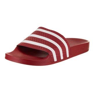 Adidas Men's Adilette Red Synthetic Leather Sandal
