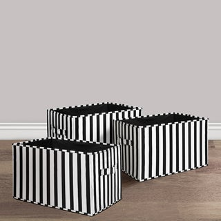 Lush Decor Stripe Fabric 3-piece Collapsible Box Set