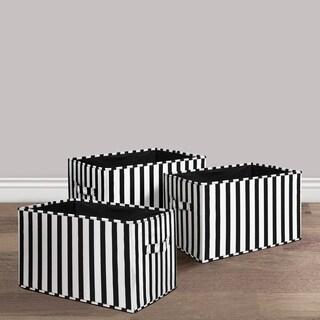 Lush Decor Stripe Fabric 3-piece Collapsible Box Set
