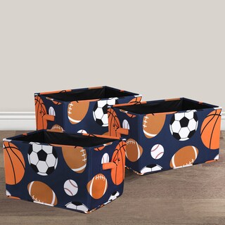 Lush Decor Sports Fabric 3-piece Collapsible Box Set
