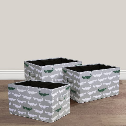 Lush Decor Alligator Fabric 3-piece Collapsible Box Set