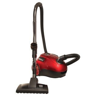 The Bank ROBBER Powerful Apple Red HEPA Compact Canister Vacuum