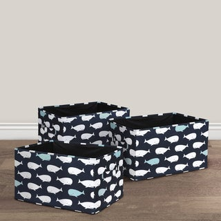 Lush Decor Whale Fabric 3-piece Collapsible Box Set