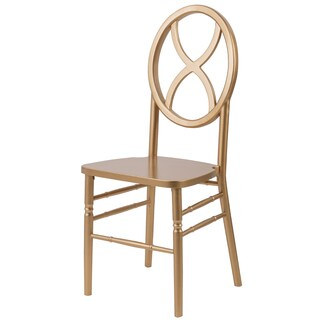 Veronique Series Stackable Wood Dining Chair (Sand Glass) - Gold