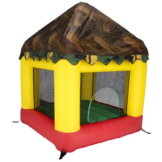 Jumpking 6.25' x 6' Bounce House with Open Roof (with Tree House Cover)
