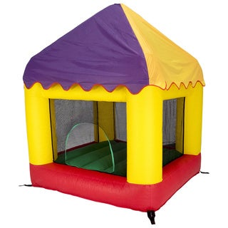 Jumpking 6.25' x 6' Bounce House with Open Roof (with Circus Cover)