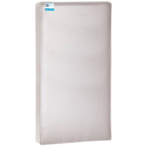 Sealy OptiCool Gel Memory Foam 2-stage Crib Mattress with Waterproof Cover - Silver