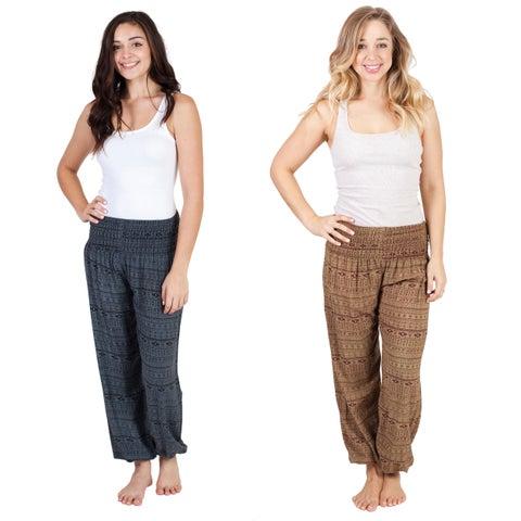 Women's Everyday Baggy Harem Hippie Yoga Pants