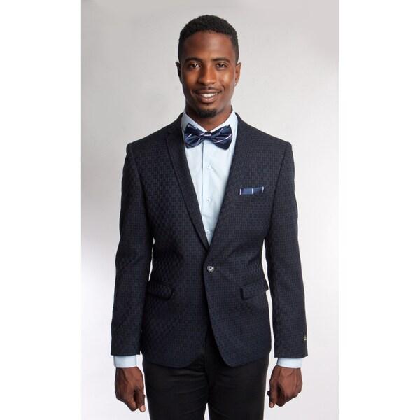 Tazio Mens Black Polyester Blazer