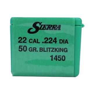 Sierra Bullets 22 Caliber (.224) 50 Gr BlitzKing (Per 100)
