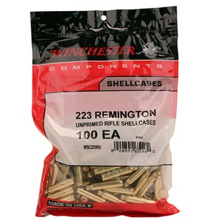 Winchester Ammo Unprimed Brass 223 Remington, Per 100