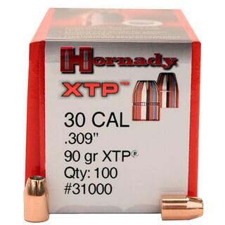 Hornady 30 Caliber Bullets 90 Gr XTP (Per 100)