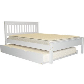 Full Bed White With Full Trundle