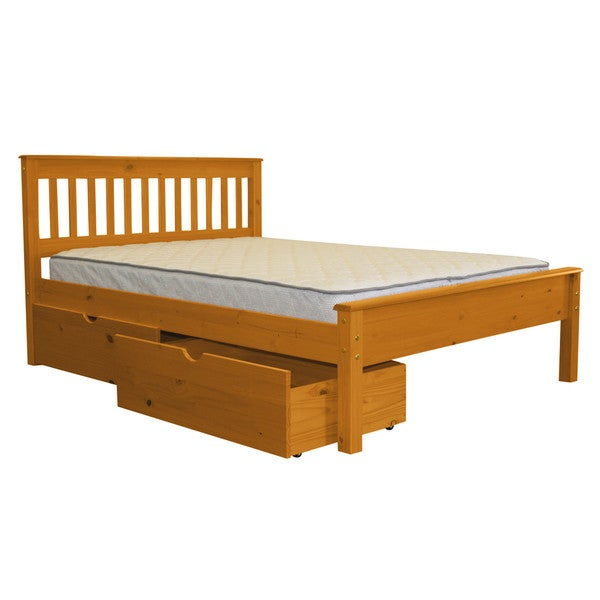 Shop Bedz King Mission Style Full Bed With 2 Under Bed Drawers