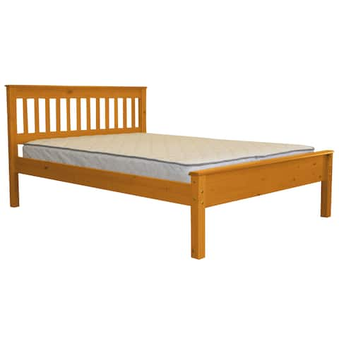Bedz King Mission Style Full Bed, Honey