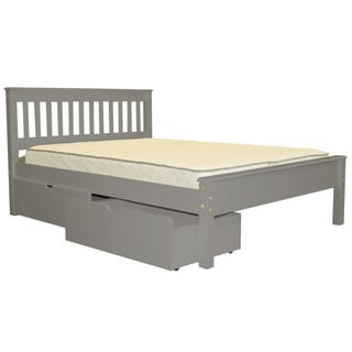 Full Bed Gray with Drawers