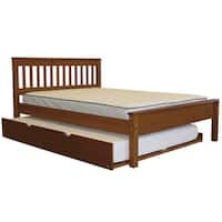 Bedz King Mission Style Full Bed with a Full Trundle, Espresso