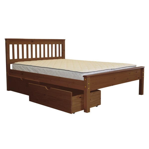 Shop Bedz King Mission Style Full Bed With 2 Under Bed