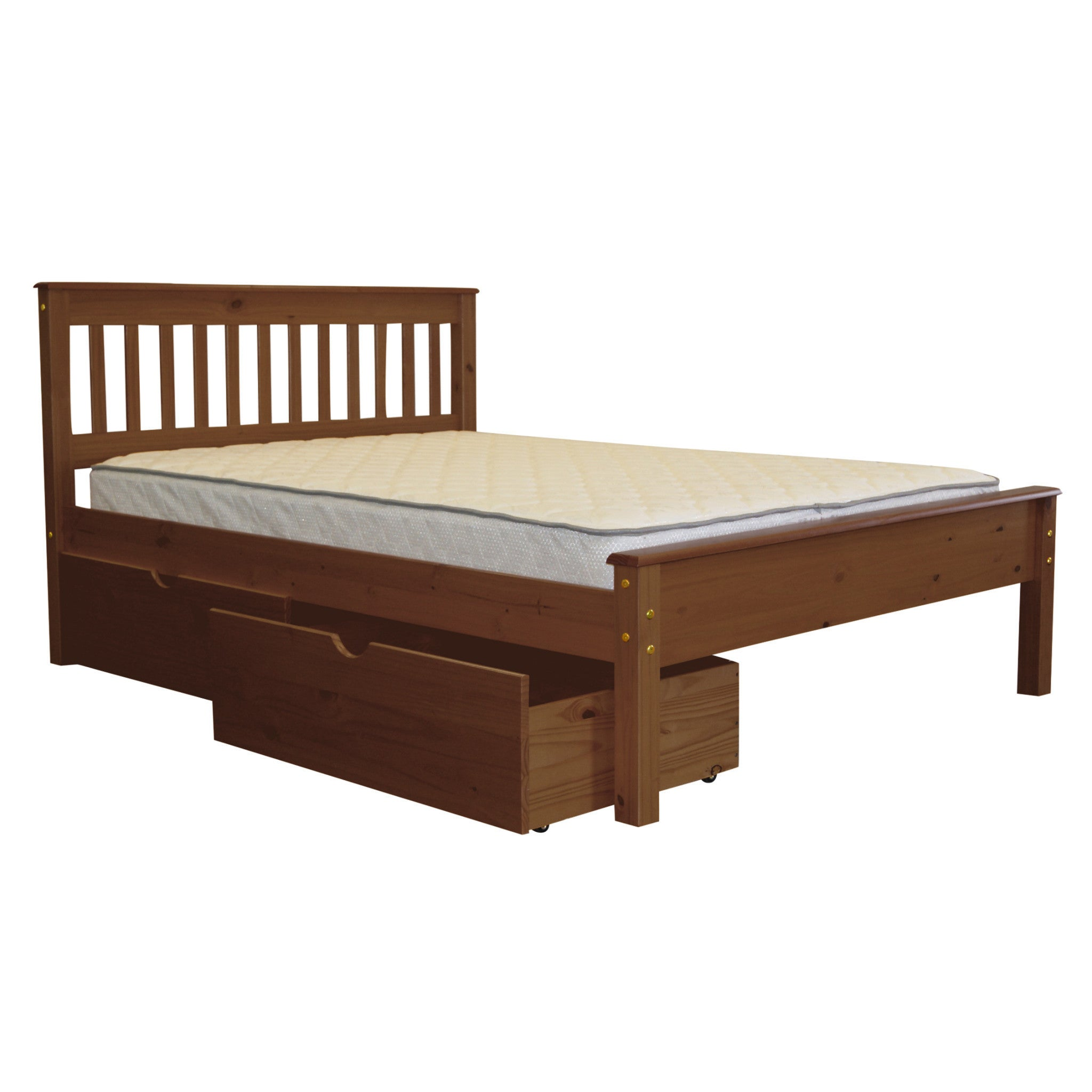 Bedz King Full Bed Expresso with Drawers (Full - Espresso...