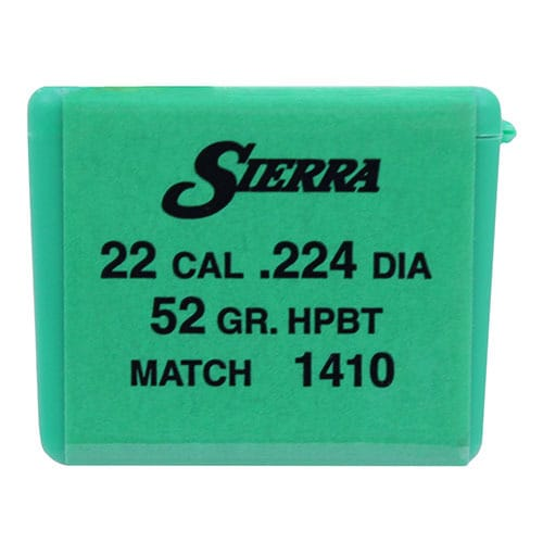 Sierra Bullets 22 Caliber (.224) 52 Gr HPBT Match (Per 100)
