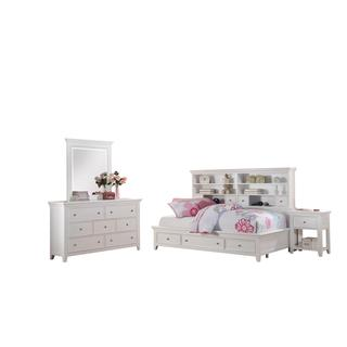 Acme Furniture Lacey White 4-Piece Storage Bedroom Set