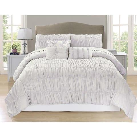Paris Creamy White 7 Piece Comforter Set