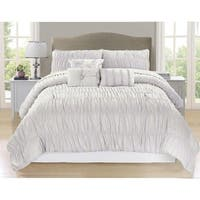 Paris Creamy White 7 Piece Comforter Set