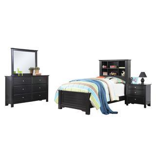 Acme Furniture Mallowsea Black Wood 4-Piece Bedroom Set