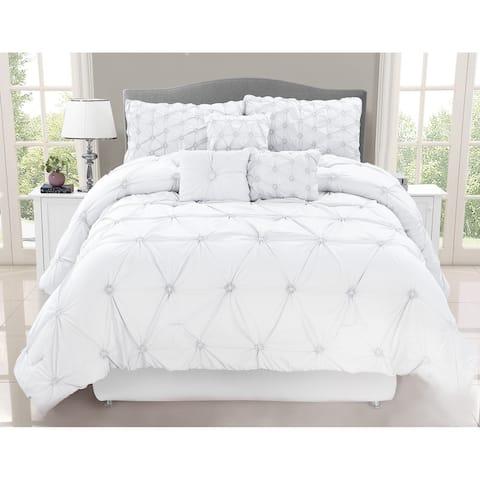 Chateau White 7-piece Comforter Set