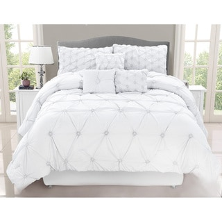 Link to Chateau White 7 Piece Comforter Set Similar Items in Comforter Sets