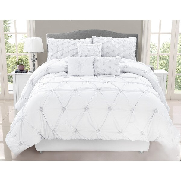 Chateau White 7 Piece Comforter Set