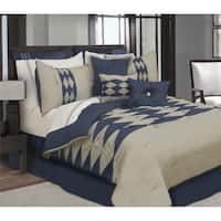 Zen Navy Blue 7 Piece Comforter Set