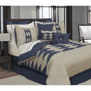 Zen Navy Blue 7 Piece Comforter Set