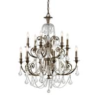 Crystorama Regis Collection 12-light English Bronze/Swarovski Elements Strass Crystal Chandelier