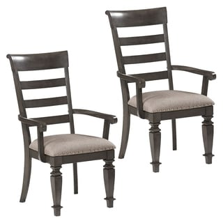 Garrison Grey Upholstered Arm Chair (Set of 2)