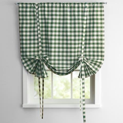 Buffalo Check Decorative Tie-Up Shade