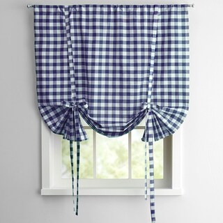 Buffalo Check Decorative Tie-Up Shade (More options available)